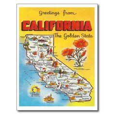 Vintage California Post Card