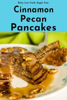 These keto cinnamon pecan coconut flour pancakes drenched in sugar free maple syrup create the ultimate low carb breakfast item. Moist, buttery pancakes with a pecan crunch. Coconut flour pancakes are not only low carb and keto friendly but gluten free too. Pecan Pancakes, Coconut Flour Pancakes, Keto Pancakes, Breakfast Items, Low Carb Breakfast, Breakfast Recipes, Chorizo Recipes, Keto Recipes, Sugar Free Maple Syrup