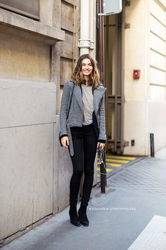#AndreeaDiaconu... just casually hanging out... looking brilliant. #offduty in Paris.