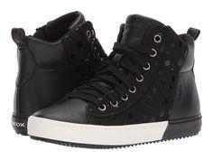 Geox Kids JR Kalispera Girl 4 (Little Kid/Big Kid) Girl's Shoes Black