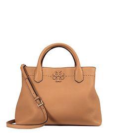 Mcgraw Triple Compartment Satchel Tan Handbags Leather Gucci