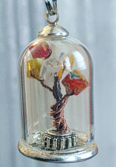 Murano Glass Wire Wrap Tree Glass Dome Pendant Necklace - Unique Cloche Terrarium Nature Jewelry Bead small dome Handmade upcycled wire-wrap tree pendant made with intertw... https://nemb.ly/p/NJbzHjB2W Happily published via Nembol