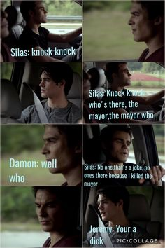 The vampire diaries Silas knock knock joke