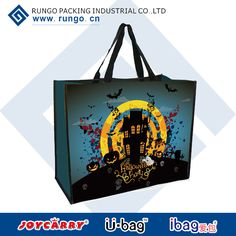 Product: Halloween Shopping tote  Size:45x35x20cm Material: lamination +PP/PP non-woven MOQ: 5K