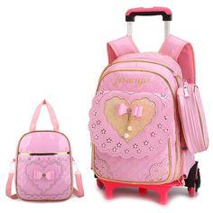 08da36fd65 Travel luggage bags for kid Girls Trolley School backpack wheeled bag for  School Trolley bag On wheels School Rolling backpacks