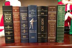 7 Leather Bound Hardback Classics Poe Twain Carroll by Vintage2Mod