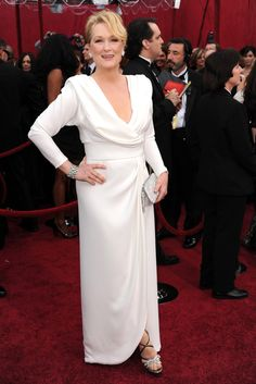 The Contenders: 10 of the Oscar-Nominated Actresses' Best Red-Carpet Looks | Meryl Streep in Chris March | at the 2010 Oscars