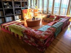 Roche Bobois MAH JONG 10-piece sofa set, KENZO Fabric GREAT CONDITION +5 pillows
