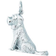 <li>Charm is crafted of sterling silver  <li>Jewelry depicts a large St. Bernard  <li>Charm features a jump ring that can be attached to any bracelet or chain