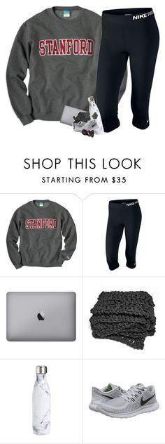 """*lazy*"" by sophie-dye ❤ liked on Polyvore featuring NIKE, S'well and Kendra Scott"