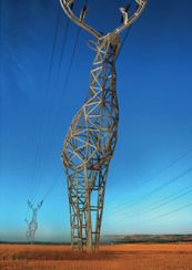 A deer electricity pylon