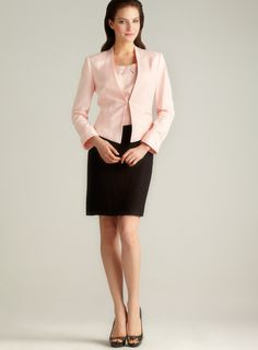 Tahari Linen Three Piece Skirt Suit