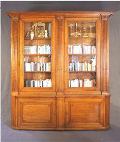 Vintage Louis seize Bibliothek Sammlungsschrank s dwestdeutsch um Kirschbaum Johannes K ssler