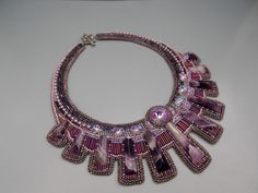 Bead Embroidery Collar Necklace Statement necklace por Vicus