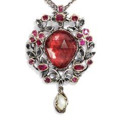 Schein und Sein - Großer Amethyst-, Diamant- & Rubin-Anhänger des Rokoko, um 1780 von Hofer Antikschmuck aus Berlin // #hoferantikschmuck #antik #schmuck #antique #jewellery #jewelry