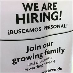 This We Are Hiring In-Store Informal Flyer Campaign was seen casually posted throughout the store. Usually, a hiring pitch is made by window sign. Window Signs, We Are Hiring, Employment Opportunities, Dollar Stores, Close Up, Campaign, Retail, Thrift Stores, Retail Merchandising