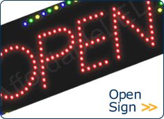 Open Sign Open Signs, Store Signs, Lighting Solutions, Digital Alarm Clock, Signage, Led, Shop Signs