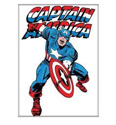 Captain America Jack Kirby White Magnet