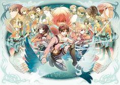 Tags: Anime, Pixiv Id 6386242, Shingeki no Kyojin, Sasha Braus, Titan (Shingeki no Kyojin), Mikasa Ackerman, Armin Arlert