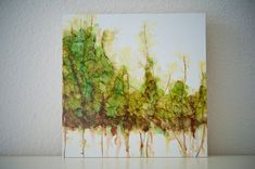 Forrest Walk  Tree Landscape   Alcohol ink by islandgirlsj on Etsy