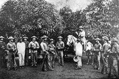 Guardia Civil en Cuba. Guardias del Destacamento de Viñales en 1891.