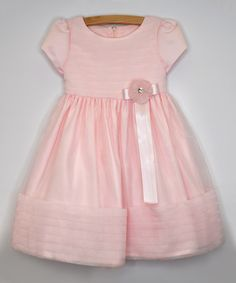 Another great find on #zulily! Pink Chiffon Cap-Sleeve Dress - Infant, Toddler & Girls #zulilyfinds