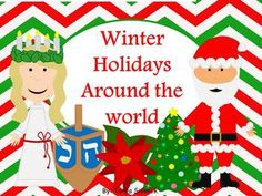 All the research done for you!  Visit 15 different countries and learn all about their winter holidays such as Christmas, Diwali, Hannukay, etc!  Use a passport, make a suitcase for your 'travels', SO much can be done and expanded.  Great deal for 96 pages!