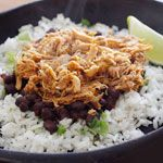 Chipotle's Cilantro Lime Rice | Skinnytaste - serve with black beans under your pork recipe!
