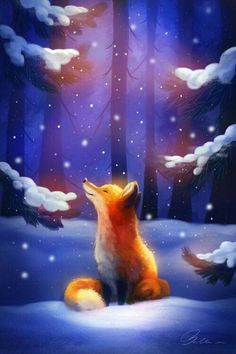 Fox Art, HD Artist Wallpapers Photos and Pictures Cute Animal Drawings, Cute Drawings, Fox Illustration, Illustrations, Fox Drawing, Cute Fox, Fox Art, Anime Animals, Animal Wallpaper