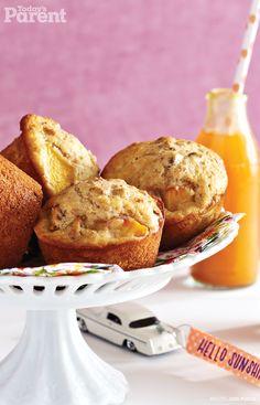 Peaches and Honey Muffins #EasySnacks #SnacksForKids #TodaysParent