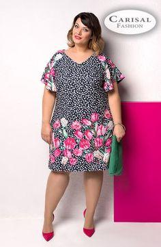 Vestidos Plus Size, Plus Size Dresses, Plus Size Outfits, Plus Size Fashion For Women, Plus Size Women, Yellow Skirt Outfits, Short African Dresses, Short Sleeve Dresses, Dresses With Sleeves