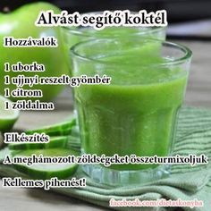 Anti-Insomnia Juice: 1 cucumber, 1 in of ginger root, 1 lemon, 1 green apple, 9 asparagus stalks. This will help you feel more energized. Healthy Juices, Healthy Smoothies, Healthy Drinks, Healthy Eating, Juice Smoothie, Smoothie Drinks, Smoothie Recipes, Juice 2, Apple Juice