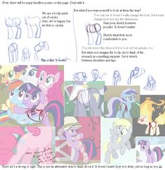 How to Draw Pony Bodies guides