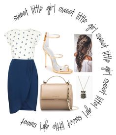 """""""sweet little girl"""" by georgiatheodoulou ❤ liked on Polyvore featuring Mode, Sugarhill Boutique, Giuseppe Zanotti und Givenchy"""