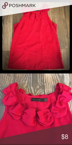 The Limited Red blouse Red sleeveless top. 100%polyester. The Limited Tops Blouses