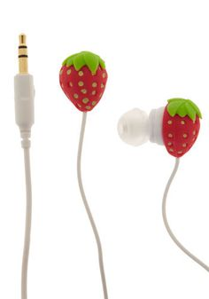 Strawberry earbuds...got these for my cousin Barie for her birthday :-)