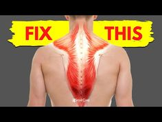 How to Fix a Tight Upper Back in 30 SECONDS - YouTube Neck And Shoulder Pain, Neck And Back Pain, Muscle Knots, Bad Posture, Back Exercises, 30 Seconds, Health And Wellbeing, Need To Know, Youtube