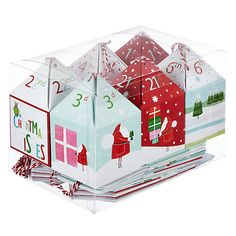 Ready to fill -  24 Flittered Advent Boxes #advent #Christmas #countdown