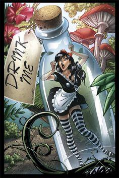 Wonderland Tattoo, Alice In Wonderland, Spanking Art, Pop Art Drawing, Mickey Mouse Art, Dark Disney, Fairytale Fantasies, Comic Pictures, Airbrush Art