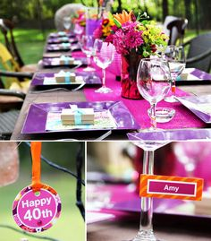 Playful & Vibrant 40th Birthday Celebration