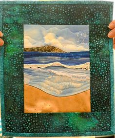 Clamshell Quilt Guild Night with Karen Eckmeier Ocean Quilt, Beach Quilt, Clamshell Quilt, Landscape Art Quilts, Miniature Quilts, Art Textile, Textiles, Quilted Wall Hangings, Cool Landscapes