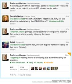 Anderson Cooper is never too busy to dish out a good burn…