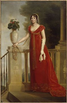 Kinson François Joseph (attribué à), 1810 Portrait of Elisa Bonaparte Vestidos Vintage, Vintage Dresses, Vintage Outfits, 1800s Fashion, 19th Century Fashion, Historical Costume, Historical Clothing, Style Empire, Regency Dress