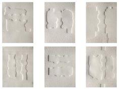 """Eduardo Chillida Gofrado """"Poema de Parmenides""""  1999  40 x 30.5 cm  Tirada de 100 ejemplares  Numerado y firmado a mano  Forma parte de un libro con 6 Relieves en Blanco  Precio: 4.200 € unidad  Interesados en el libro completo consultar Sculpture Painting, Encaustic Painting, Abstract Words, Abstract Art, Cubist Artists, Collagraph, White Art, Pattern Art, Installation Art"""