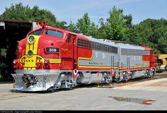 RailPictures.Net Photo: 315 Atchison, Topeka & Santa Fe (ATSF) EMD F7(A) at Greenville, South Carolina by Casey Thomason