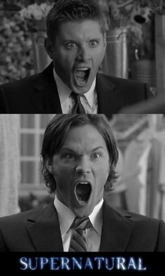 Supernatural - Sam & Dean's Screaming Faces. #Supernatural #SPN #TV_Show