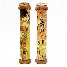 Handmade kaleidoscope Gustav Klimt. The Kiss created in a professional workshop of St. Petersburg in Russia.