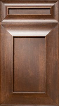 """""""Marquesa"""" is the unique name for this unique NEW door style. Shown in our Crimini stain on Cherry, this door has a swooped mitered rail with a bead around the outside edge. House Gate Design, Wooden Front Door Design, Grill Door Design, Cabinet Door Designs, Kitchen Cabinet Styles, Furniture Design Modern, Wooden Front Doors, Door Glass Design, Kitchen Cabinet Door Styles"""