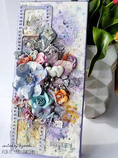 13 pasji by Ayeeda: Mixed media canvas with video tutorial by Ayeeda