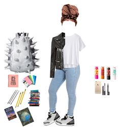 """""""School Outfit ✈️"""" by prvncessbeautifulmee ❤ liked on Polyvore featuring Athleta, MadPax, Retrò, Yves Saint Laurent, Maybelline, FACE Stockholm and 7 For All Mankind"""